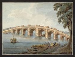 Akbar's bridge over the Gumti River at Jaunpur